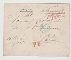 RL181 / Aus Russland, Franco 1863 Vis¡a BP Königsberg - Bromberg Nach Paris - 1857-1916 Imperium