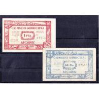 TRLBYMA6201-LFTBIMGC0075E-F.BILLETES DE TERUEL  DE LA GUERRA CIVIL. 1 PESETA 1937. AYUNTAMIENTO DE ALCAÑIZ - 1-2 Pesetas