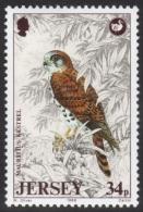 Jersey Mauritius Kestrel Stamp Mnh - Eagles & Birds Of Prey