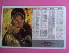 CALENDARIETTO 1989 PONTIFICIO OPERE MISSIONARIE - Formato Grande : 1981-90