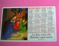 CALENDARIETTO 1989  LIBRERIA EDIZIONI PAOLINE - Calendari