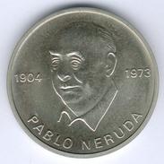 """DDR Medaille - Pablo Neruda 1904-1973 """"Wir Schwören Fortzusetzen Deinen Weg..."""", Fast Vz/st - RDA"""
