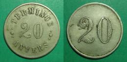 ANVERS - Terminus - 20c - Monedas / De Necesidad