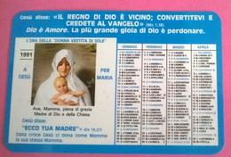 CALENDARIETTO 1991 GIOVENTU' ARDENTE MARIANA - Calendari