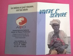 CALENDARIETTO 1992 XXXIX GIORNATA MONDIALE MALATI DI LEBBRA - Calendari