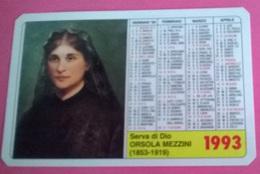 CALENDARIETTO 1993 ORSOLA MEZZINI - Calendari