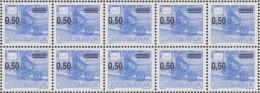 Yougoslavie 1990 Y&T 2289A Michel 2421A Dentelé 13 1/4. Bloc De 10. Y&T 5 €. Poste. Moto Sous Un Facteur - Motorbikes