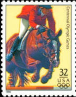 Sc#3068s 1996 USA Olympic Games Stamp-Equestrian Horse Athletic - Summer 1996: Atlanta