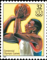Sc#3068t 1996 USA Olympic Games Stamp-Basketball Athletic - Ete 1996: Atlanta