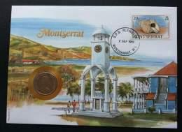 Montserrat Seashell 1991 Shell Building Island Beach Clock Tower FDC (coin Cover) - Montserrat