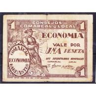 HSBBYMA6206-LBTBIMGC0232-D.BILLETES DE HUESCA. LA GUERRA CIVIL. 1 PESETA. AYUNTAMIENTO DE BARBASTRO - [ 2] 1931-1936 : República