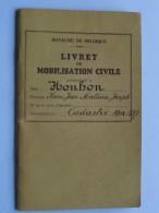 Livret De MOBILISATION Civile Cadastre  Matr : 517 ( Honhon Henri - Liège 1903 ) Anno 1921 ( Détail Zie / Voir Photo ) ! - Documents