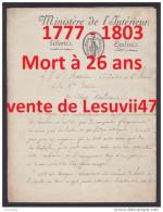 """"""" PARIS """" EXCEPTIONNEL MANUSCRIT INEDIT, PAR LOUIS JOSEPH PHILIPPE BALLOIS (1777-1803). - Documents Historiques"""