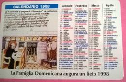 CALENDARIETTO 1998 OPERA VOCAZIONI DOMENICANE BOLOGNA - Calendari