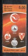 Sri Lanka 2012 World Post Day Coat Odf Arms  Dove MNH # 1999 - Sri Lanka (Ceylon) (1948-...)