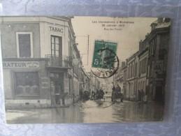MONTEREAU LES INONDATIONS 26 JANVIER 1910 . RUE DES FOSSES  .  Un Trou De Punaise - Montereau
