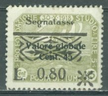 ITALIA - OCCUPAZIONI - FIUME - SEGNATASSE 1921: Sassone 23 31 ? / YT 24, * MH - FREE SHIPPING ABOVE 10 EURO - 8. Occupazione 1a Guerra