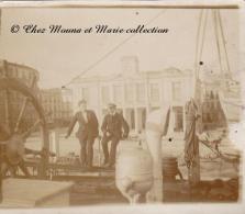 ALGERIE 1920 - BONE ANNABA - ARRIVEE AU PORT - SUR LE PONT - BATEAU NAVIRE - PHOTO 7 X 6 CM - Bateaux