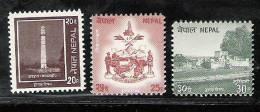 NEPAL, 1994, Definitive,  Definitives, 3 V, MNH, (**) - Nepal