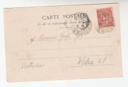 1903 MONACO Stamps COVER (postcard Casino Et Jardins ) - Monaco