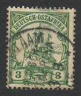 German East Afrika, 3 P. 1900, Sc # 12, Mi # 12, Used, Dar-es-Salaam - Colony: German East Africa