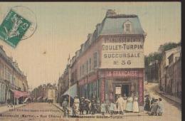 Cpa:Ste Menehould:Rue Chanzy Et Ets Goulet-Turpin:Succ 36:Animation - Sainte-Menehould