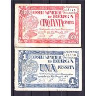 BCNBYMA6209-LBTBIMGC0325-A-B.BILLETES DE BARTCELONA. LA GUERRA CIVIL. 15CTMS. AYUNTAMIENTO DE BERGA - [ 2] 1931-1936 : República