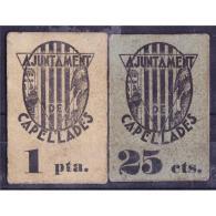 BCNBYMA6210-LBTBIMGC0446-A-C.BILLETES DE BARTCELONA. LA GUERRA CIVIL. 15 CTMS. AYUNTAMIENTO DE CAPELLADES - [ 2] 1931-1936 : Republic