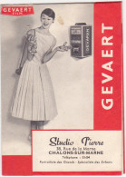 Ancienne Pochette Photo / GEVAERT FILM / Studio Pierre CHALONS-SUR-MARNE - Publicités