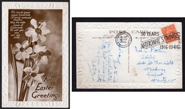 Portsmouth & Southsea 1946 National Savings Slogan Easter Postcard - Easter