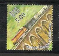Sri Lanka 2014 Nine Arch Viaduct At Gotuwala Railway Locomotive Train MNH # 3510 - Sri Lanka (Ceylon) (1948-...)