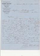 LETTRE ENTETE -PIERRE CAILLOL - ANCIENNE MAISON DE TRANSIT -MARSEILLE - ANNEE 1863- AFFRANCHIE N° 22 -OBLITERE GC 2240 - 1800 – 1899