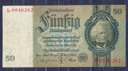 Germany - 1933- 50 Mark   T/L  -    ( VF+ ) .P-182a ...R 175a - 50 Reichsmark