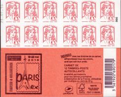 """CARNET Marianne De Ciappa- Kawena Rouge """"PARIS PHILEX"""" Daté 25.01.16. Peu Proposé, RARE, à SAISIR. - Carnets"""