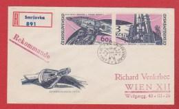 Tchécoslovaquie  --  Enveloppe    Départ  Smrzovka   17/4/1965 - Lettres & Documents
