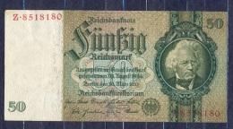 Germany - 1933- 50 Mark  X/Z  -    ( VF+ ) .P-182a ...R 175a - 50 Reichsmark
