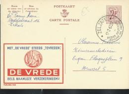 Publibel Obl. N° 1830 ( Assurances: DE VREDE , Colombe) Obl: Zelzate 17/02/1962