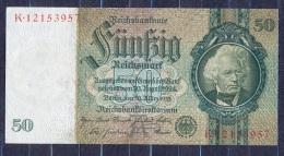 Germany - 1933- 50 Mark  A/K  -    ( AUNC ) .P-182a ...R 175b - 50 Reichsmark