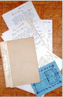 Construction D'une école à Forêt-Trooz En 1909 : 35 Courriers + Cahier + Procès-verbal. - Manuscritos