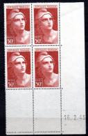 1 / France Coin Daté  N° 732 Neuf XX MNH  , Cote :  12,50 € , Album 12 - 1950-1959