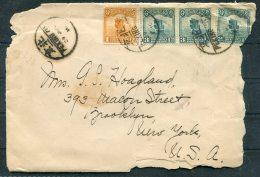 1916 (?) China Peking Cover + Letter Grand Hotel - New York USA - 1912-1949 Republiek