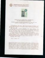 ITALIA REPUBBLICA ITALY 1978 AMMINISTRAZIONE DELLE POSTE E TELECOMUNICAZIONI INFORMAZIONE FOTOGRAFICA NUOVO UNUSED - Presentation Packs