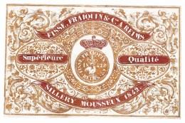 1842, FISSE, FRAIQUIN & C° à REIMS, SILLERY MOUSSEUX 1842 Supérieure Qualité - Champagne