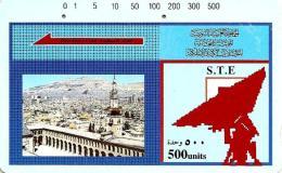 SYRIA 500 UNITS CITY VIEW AND SATELLITE DISH TAMURA 2000´s(?)  READ DESCRIPTION