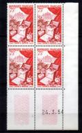 1 / France Coin Daté   N° 974 Neuf XX MNH  , Cote :  85,00 € , Album 12 - 1950-1959
