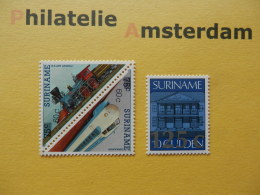 Suriname 1988, OVERPRINT / CENTRAL BANK PARAMARIBO / TRAINS: Mi 1258-60, ** - Suriname
