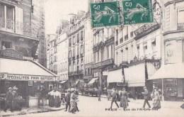 PARIS 1er Rue De L' ARBRE SEC Animée Commerces à La PROVIDENCE Confiserie Dragées Pour Baptèmes CAFE BAR 1911 - Arrondissement: 01