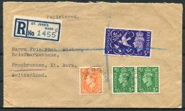 1946 GB Nugent Terrace, St John's Wood, London Registered Cover -  Fraubrunnen, Bern, Switzerland - 1902-1951 (Kings)