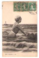 BAIGNEUSE , Jeune Femme En Maillot De Bain ; Phare; Arcachon, 1920, TB - Femmes