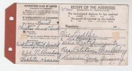 1947 USA PARCEL MAIL TAG  Wichita To POTSDAM GERMANY RUSSIAN ZONE - United States